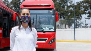 Anuncia Jefa de Gobierno nueva línea de Metrobús en Circuito Interior y llegada del primer autobús eléctrico